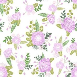floral coordinate unicorn quilt nursery fabric light
