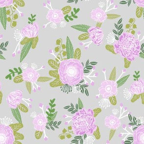 floral coordinate unicorn quilt nursery fabric grey