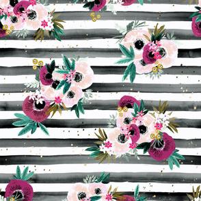 blush  + wine bloom stripe