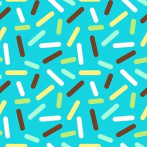 Boys Donut Sprinkle - Blue and Brown