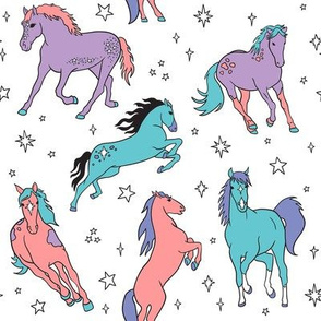 Cotton Candy Sparkle Horses
