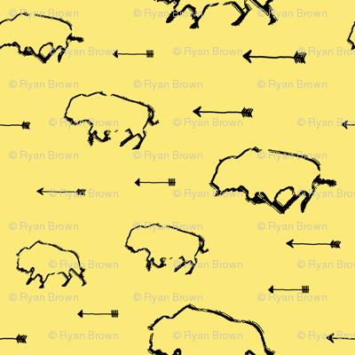 Buffalo Hunt // Yellow // Small