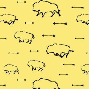 Buffalo Hunt // Yellow // Small