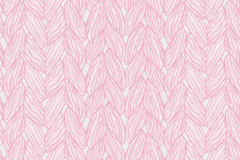 Knitting - Stitched Pink fabric by docious_designs_by_patricia_braune on Spoonflower - custom fabric