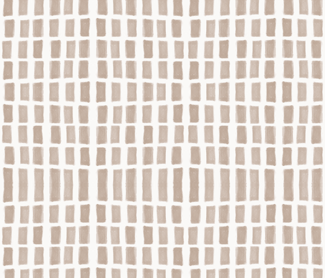 Brush Strokes Vertical Lines Nude on Off White fabric by form_creative on Spoonflower - custom fabric