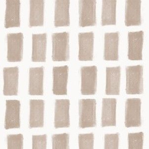 Brush Strokes Vertical Lines Nude on Off White