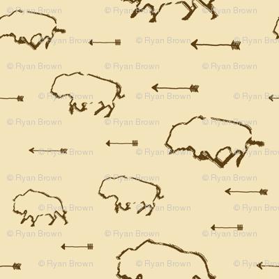 Buffalo Hunt // Tan // Large