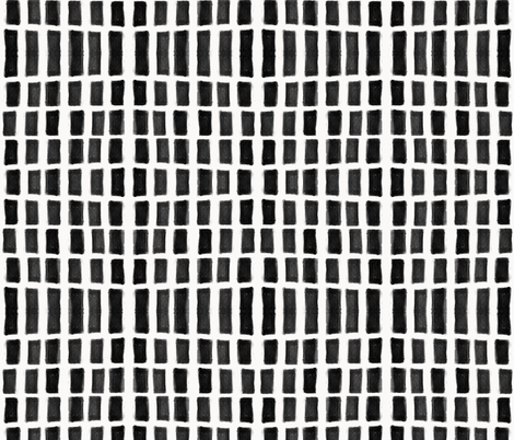 Brush Strokes Vertical Lines Black on Off White fabric by form_creative on Spoonflower - custom fabric