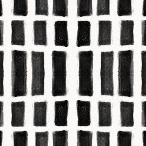 Brush Strokes Vertical Lines Black on Off White