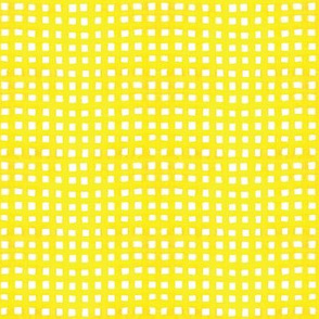 Yellow Watercolor Gingham