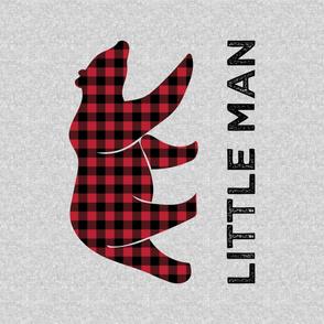 """54"""" Minky Yard - Little Man - Bear"""