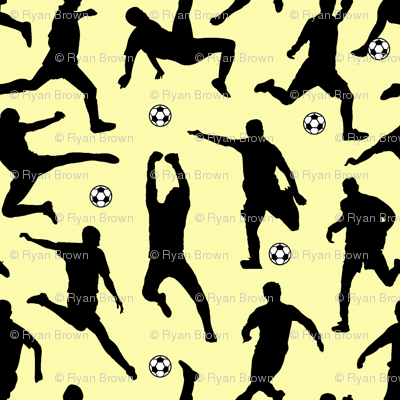 Soccer Players // Yellow // Large