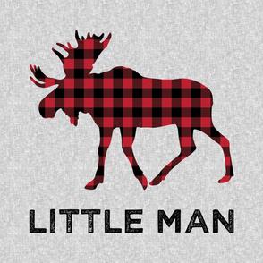 "27"" Minky Layout - Little Man - buffalo plaid moose"