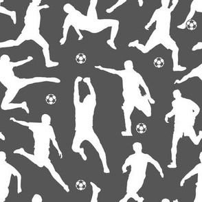 Soccer Players // Charcoal // Large