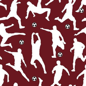 Soccer Players // Maroon // Large