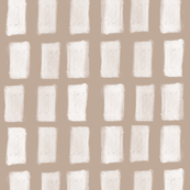 Brush Strokes Vertical Lines Off White on Nude