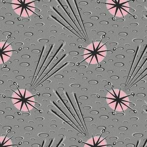 Pink Meteors on Lunar Gray
