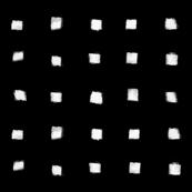 Polka Strokes Gapped - Off White on Black