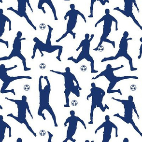 Blue Soccer Players // Small