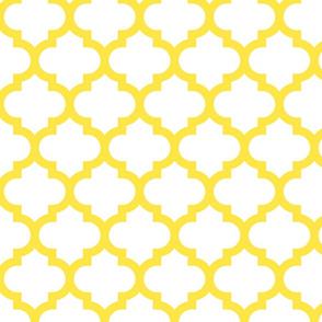 Kinsale Quatrefoil Yellow
