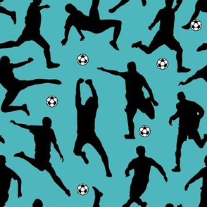 Soccer Players // Turquoise // Large