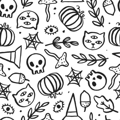Witches stuff fabric by kondratya on Spoonflower - custom fabric