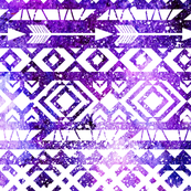 Ethnic pattern. Watercolor space