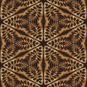 tribal lion flower hexagon tapestry 1 pavement africa symbol batik wax woodprint