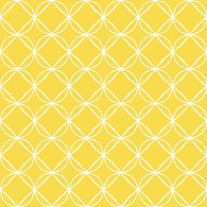 white circle ogee mustard