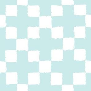 Blue diagonal squares