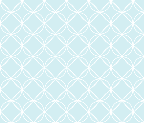 circle ogee pale blue fabric by jenlats on Spoonflower - custom fabric