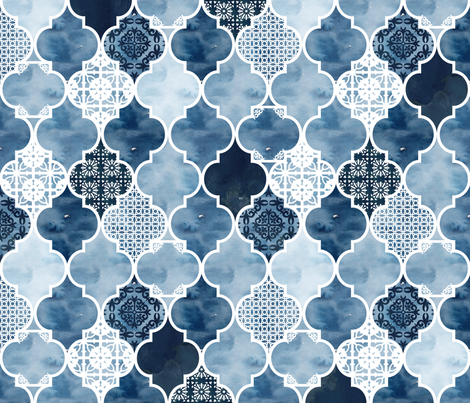 Moroccan trellis fabric by adenaj on Spoonflower - custom fabric