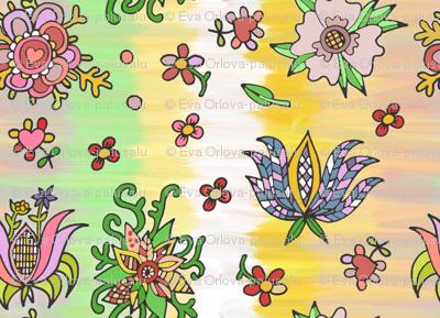 folk flowers springcolors