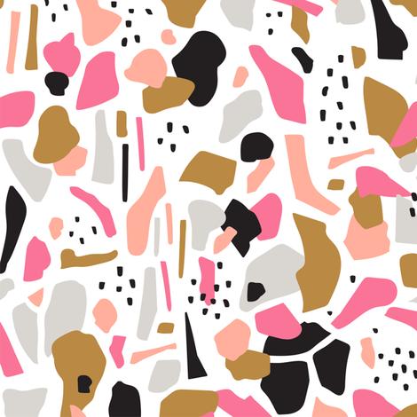 Terrazzo #1 fabric by alenkakarabanova on Spoonflower - custom fabric