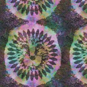 rainbow tribal lion medaillon swirls africa symbol batik