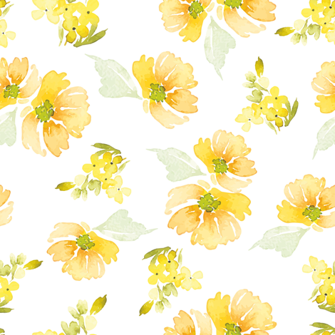 "8"" Sunshine Florals fabric by hipkiddesigns on Spoonflower - custom fabric"