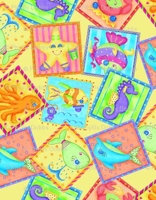 Kids Sea Animal Blocks Yellow Small