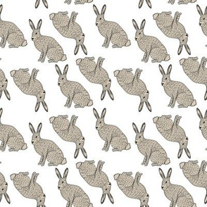 abc quilt // rabbit bunny animal woodland ABC's animals nursery fabric