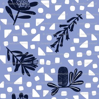 Little Australian Wildflowers: Bright Blue