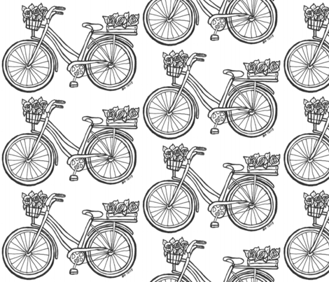 Color-Me Bicycle fabric by allthingseclectica on Spoonflower - custom fabric