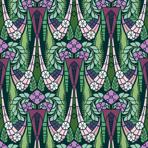 Gatsby style elaborate floral