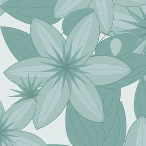 Clematis Scatter: Watery Blue