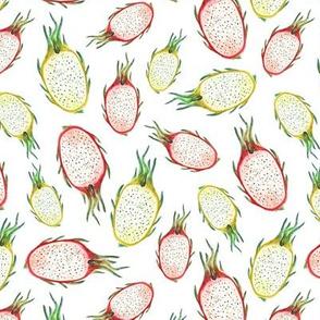 Pitaya watercolor pattern