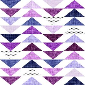 purple linen flying geese