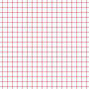 """bold coral windowpane grid 1"""" square check graph paper"""