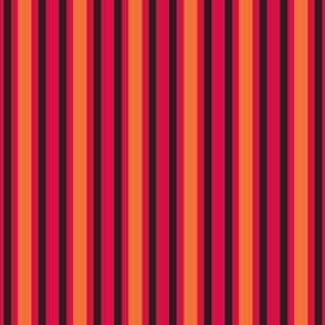 Dinosaur Stripe Black Red Orange