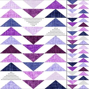 1 blanekt + 2 loveys: purple linen flying geese