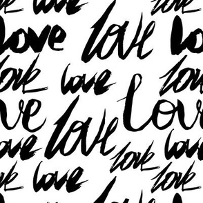 Word love white background