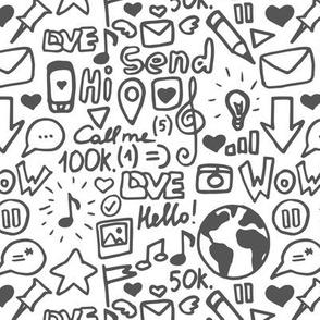 Social media white pattern