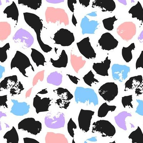 Abstract pattern with colored spots